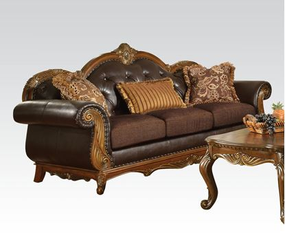 Picture of Dorothea Cherry Fabric Living Room Sofa