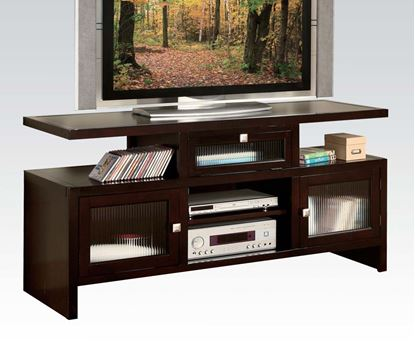 Picture of Jupiter Espresso Finish Wood Folding TV Media Stand Console