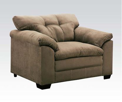 Picture of Lucille Contemporary Sage Microfiber Fabric Chair