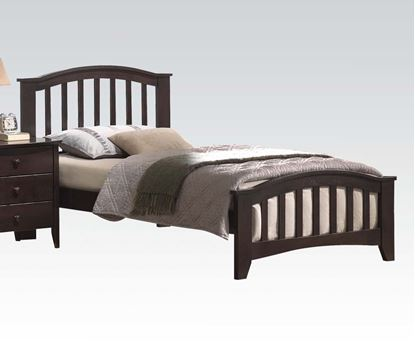 Picture of San Marino Transitional Walnut Finish Twin Size Bed