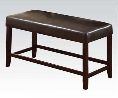 Picture of Idris Espresso Bycast Counter Height Bench in Espresso