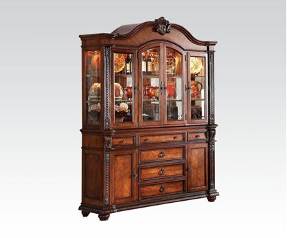 Picture of Nathaneal Collection Tobacco Cherry Finish Hutch & Buffet