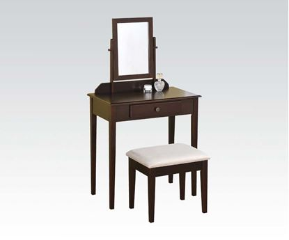 Picture of Jamy Espresso Finish  Vanity Set with Mirror